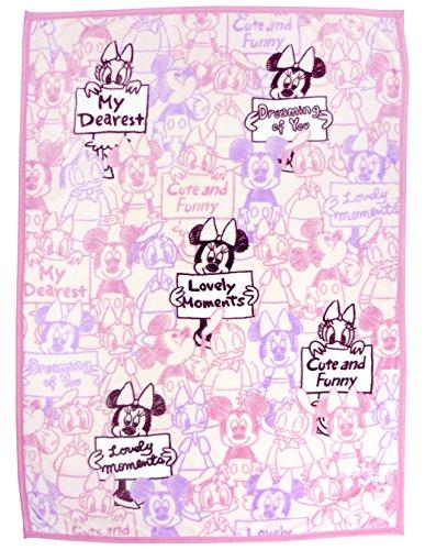 ベビー ニューマイヤー 毛布 Disney ミニー ≪85×115cm≫ 【Premium 極上の肌触り】 un doudou No.NZ1864-PI