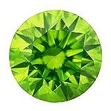 カラーダイヤモンド ブリリアントカット ルース 1.7mm 1個 ペリドットグリーン クラリティ:SI diac-prg-1.7mm