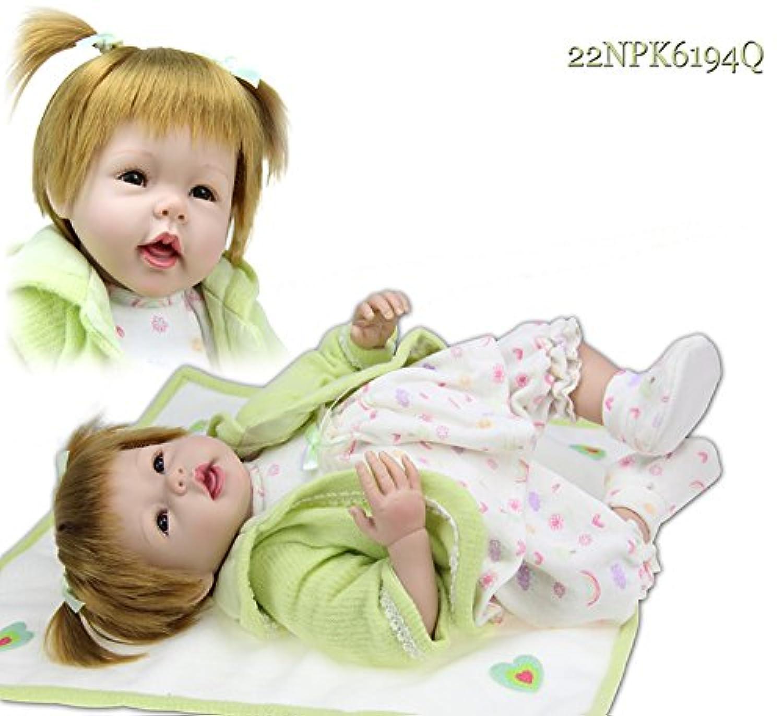 NPK COLLECTION 55CM リボーンドール ベビードール きせかえ人形 お人形 女の子 ドール 新年プレゼント 誕生日プレゼント