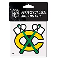 "NHL Chicago Blackhawks 05261115 Perfect Cut Color Decal,4"" x 4"",Black [並行輸入品]"