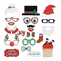 BESTOYARD クリスマスフォトブースの小道具キットXmas写真の写真アクセサリー19個