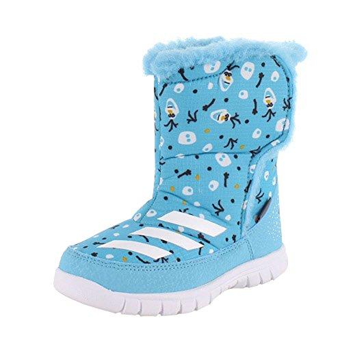 adidas Disney Frozen Mid I AQ2907 ベビー キッズ ブーツ スノー ディズニー 14 56-ブルー