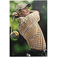 Sports Art Enterprises WOODSCANP Tiger Woods Canvas Unsigned Photo