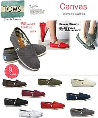 (トムズシューズ)TOMS shoes Classic Canvas スリッポン ((W5.5(22.5cm), 1Ash)