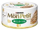 モンプチ ゴールド缶 成猫用 極上かつお 70g×24缶入り (ケース販売) [キャットフード]