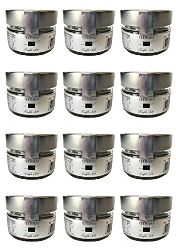 TETSUYA'S Truffle Salt トリュフソルト トリュフ塩 100g × お得用12個/カートン アブルッツォ産 黒トリュフ と シチリア産 天然海塩 で作った トリュフ塩