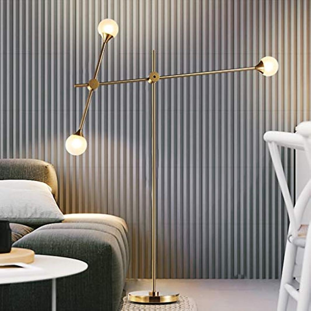 本当に悲観主義者距離ゴールデンフロアランプ北欧スタイルのシンプルでモダンなリビングルームのコーヒーテーブルソファランプルームの寝室のベッドサイドアイアン M02-27 (Color : B Yellow light source)