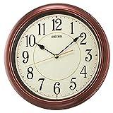 "Seiko 13"" Numbered Wood Finish Wall Clock"