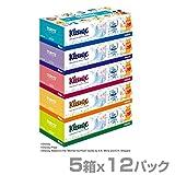 日本製紙クレシア クリネックス ティッシュペーパー ディズニー 5箱×12パック(60箱) 40403