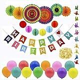 誕生日 飾り付け 装飾 バースデー デコレーション セット LED ストリングライト バンギング お祝い 風船 装飾 お祝い用品 紙吹雪 飾り クラッカー