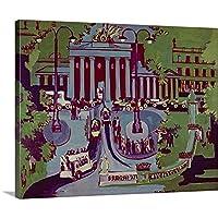 """Ernst ( 1880–1938) Kirchnerプレミアムシックラップキャンバス壁アート印刷題名のブランデンブルク門、ベルリン、1929 20"""" x 16"""" 1019295_24_20x16_none"""