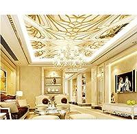 Weaeo カスタム3D天井の壁画の壁紙の壁のための壁のためのエンボスパターンの不織布天井の3D壁紙-400X280Cm