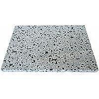 荒くれ男の【溶岩プレート】Dタイプ 20×30×2センチ 溶岩石切り出しタイプ大。一枚ずつ丁寧に手加工しています。安心してお使い下さい。D