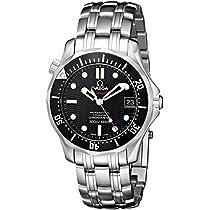 オメガメンズ212.30.36.20.01.001Seamaster 300Mクロノダイバーブラックダイヤル時計