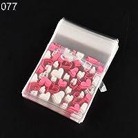 Taiguang 100個自己粘着キャンディ食品パッケージギフトバッグセロファンCookieのパーティー 7*7+3cm R6RVY4NM38U8IYX14522V6YKG