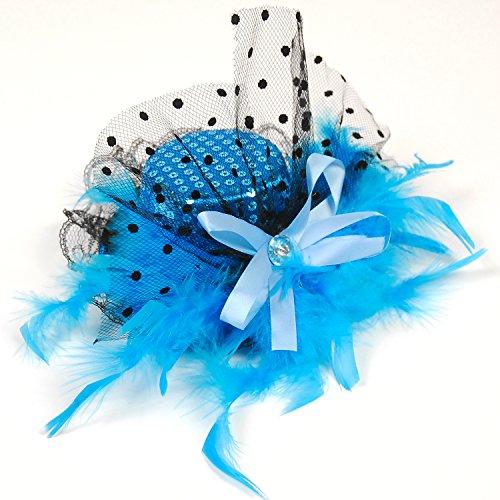 [해외]도트 명주 장식 조각 미니핫토 파티 모자/Dot Tulle Sequin Mini Hat Party Hat