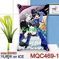 ユーリ!!! on ICE YURI!!! on ICE アニメ 萌えグッズ 漫画 立体抱き枕 抱き枕カバー 両面プリント 2Wayトリコット ファスナー付き カバー 枕芯 2点セット MQC469-1(40x60cm)