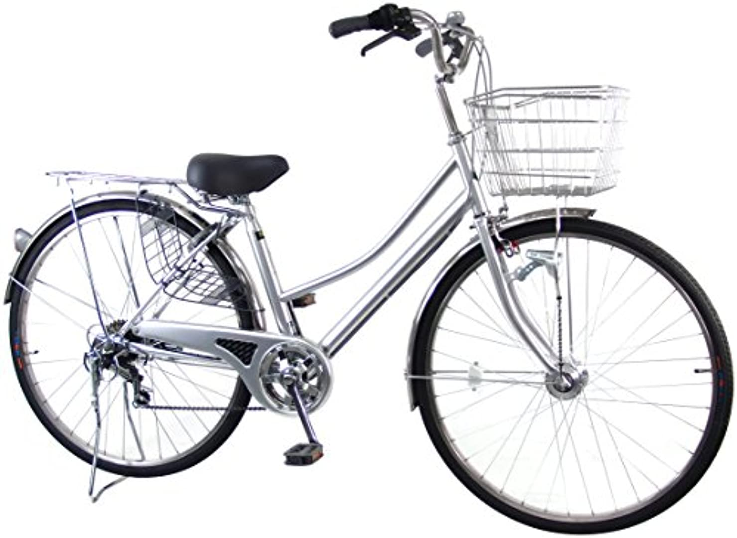 シャイニングに渡ってなめるC.Dream(シードリーム) ココWスペシャル CW76-SP 27インチ自転車 シティサイクル シルバー 6段変速 BAA 100%組立済み発送