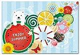summerポストカード 「まる」 夏の絵葉書 暑中見舞い