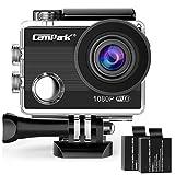Campark アクションカメラ WiFi搭載 フルHD 1080P高画質 水中防水170度広角レンズ 電池2枚付き