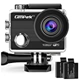 Campark アクションカメラ【メーカー直販/1年保証】 WiFi搭載 フルHD 1080P高画質 30メートル防水 170度広角レンズ 2インチ液晶画面 1050mAh電池2枚付き
