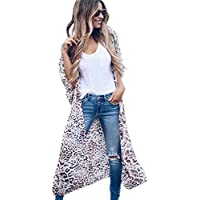 Yonala Womens Floral Kimono Loose Half Sleeve Chiffon Casual Cardigan Cover Up