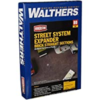 Walthers Cornerstone Series Kit HO Scale Brick Street System Straight Sections [並行輸入品]