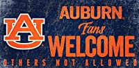 Auburn Tigers 15cm x 30cm Fans Welcome Others not Allowed Wood Sign