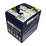 不二家 ハートチョコレート (ピーナッツビター) 1枚×10袋 1箱