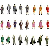 #N/A 50Pcs 1:87 Realistic People Model Farmers Decoration Figures Toys