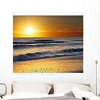 """画像Ocean Water Sand壁壁画Wallmonkeys Peel and Stickグラフィックwm224977 48""""W x 39""""H - Extra Large FOT-5745592-48"""
