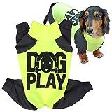 犬猫の服 full of vigor ドッグプレイ(R)Fプリントラッシュガード 小型犬用 カラー 8 イエロー サイズ NLラッシュガード オールインワン フルオブビガー