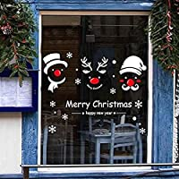 ウォールステッカー クリスマス Xmas 赤鼻 シルエット トナカイ 雪だるま サンタ サンタクロース 赤い鼻 赤い花 雪の結晶 オーナメント 飾る