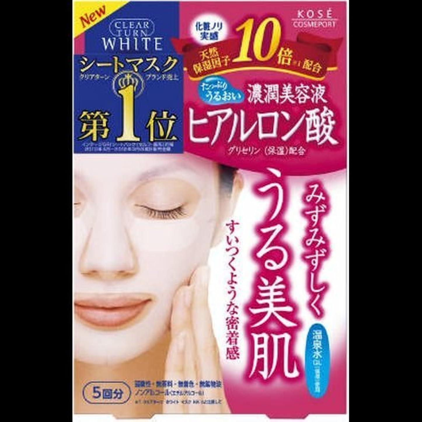 仕方精緻化ファッションクリアターン ホワイトマスク ヒアルロン酸 5回分 ×2セット