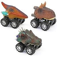 摩擦Pull Backおもちゃ車恐竜のセット3