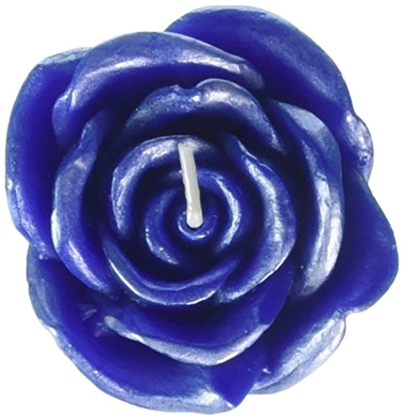 Zest Candle CFZ-075 3 in. Blue Rose Floating Candles -12pc-Box