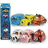Coolplay ミニカー セット 車 おもちゃ 1/64 フリクションカー 走る動物おもちゃ カワイイ6台のカラフルセット 丁度いいサイズ 細工 丈夫 軽量