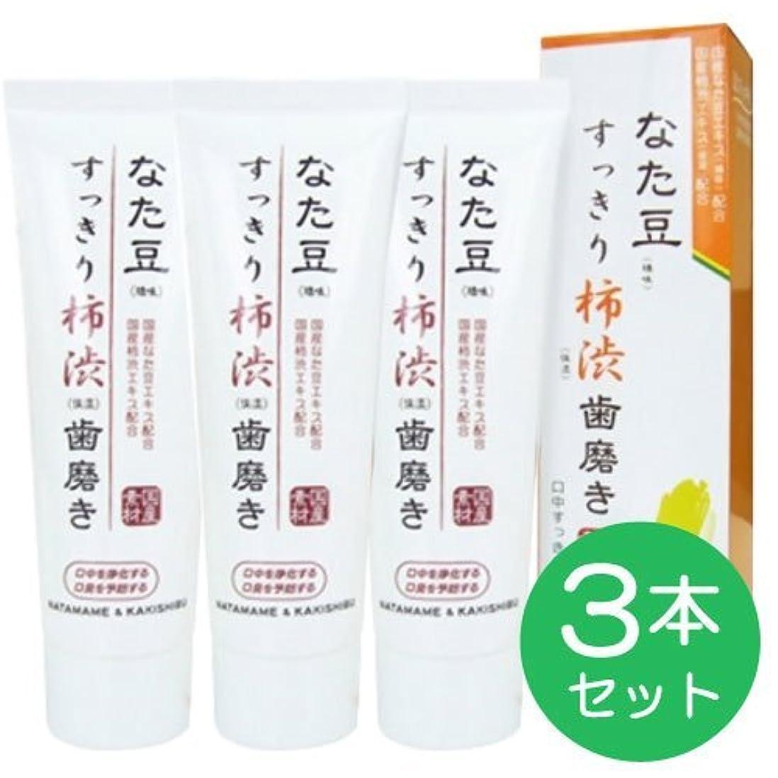 実行するバズたぶんなた豆すっきり柿渋歯磨き粉 (3個)