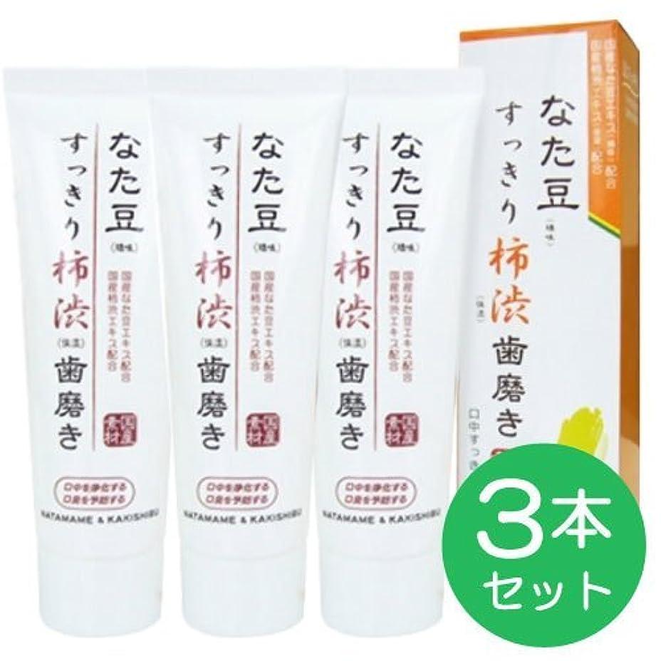 水平憂慮すべきくつろぐなた豆すっきり柿渋歯磨き粉 (3個)