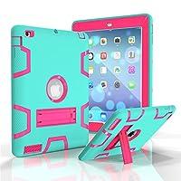 iPad 2ケース, iPad 3ケース, iPad 4ケース、Kamii [ロボットシリーズ]衝撃吸収/高衝撃性ハイブリッド3つLayer Armor Defenderフルボディ保護ケースカバーfor Ipad 2/ 3/ 4