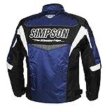 シンプソン(SIMPSON) バイク用ジャケット Nylon Jacket (ナイロン ジャケット) ブルー 4L SJ-7132