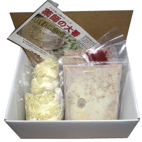 東京・中野の逸品グランプリ1位獲得 薬師の大番「コテ丸」冷凍3食セット(豚骨正油ラーメン)