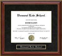 バーモント州法学校( VLS )卒業証書フレーム vt-vls-91-maho