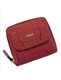 [クロエ] Chloe ラウンドファスナー二つ折り財布 レディース ロゴ 中古 K007