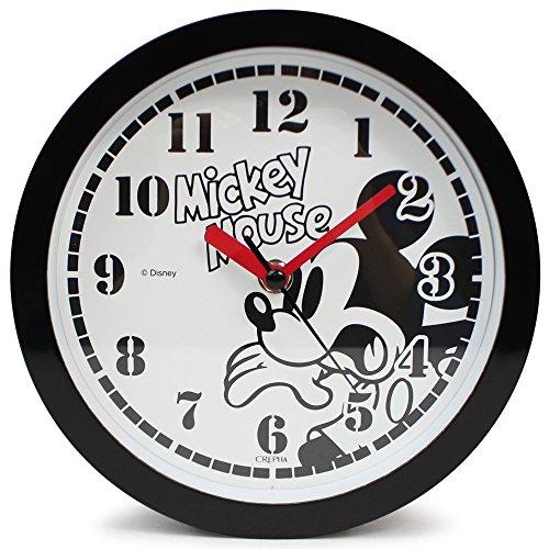 Disney 壁掛け時計 ミッキーマウス アナログ表示 置き掛け兼用 連続秒針 ブラック DIC-5032-1MK