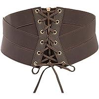 SCARLET DARKNESS Women Steampunk Lace-up Cinch Belt Tied Corset Elastic Waist Belt