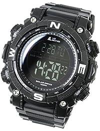 [LAD WEATHER] パワー ソーラー搭載 100m防水 ミリタリー アウトドア ラップタイム デジタル腕時計