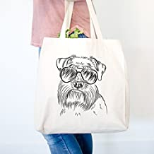 Wrigley The Schnauzer Heavy Duty 100% Cotton Canvas Tote Shopping Reusable Grocery Bag 14.75 x 14.75 x 5