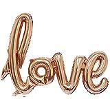 Homeland 風船 LOVE ラブ 結婚式 パーティー 飾り 結婚式応援 ゴールド