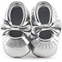 DEDEBAO Infant Toddler Baby Soft Sole Tassel Bowknot Moccasinss Crib Shoes